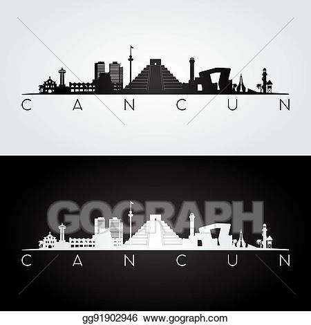 Cancun clipart black.