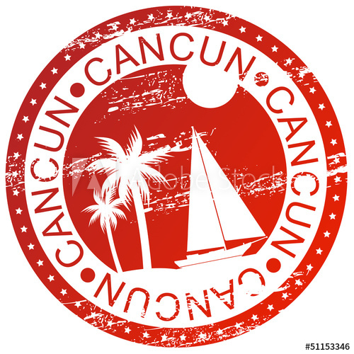 Cancun clipart stamps.