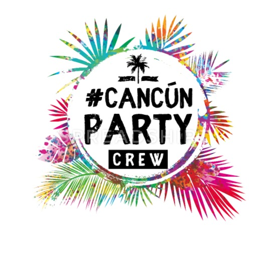 Cancun clipart typography.
