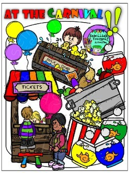 Carnival clipart elements.