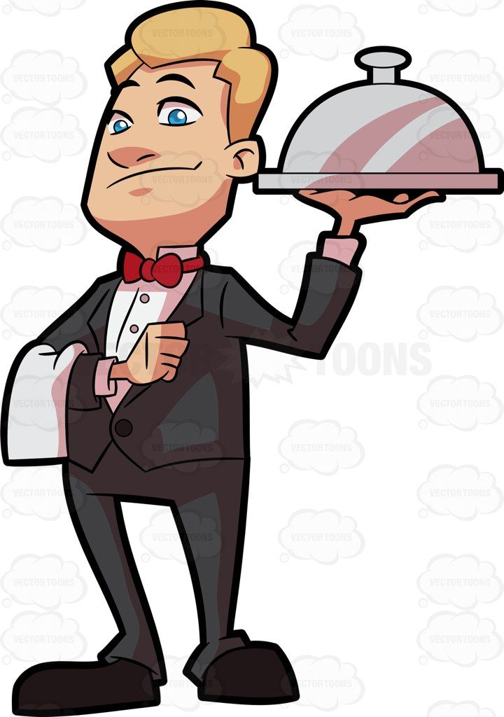 waiters clipart uniform