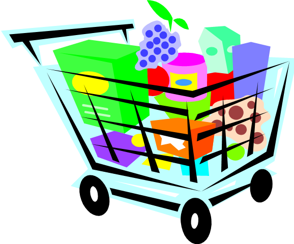 grocery clipart background