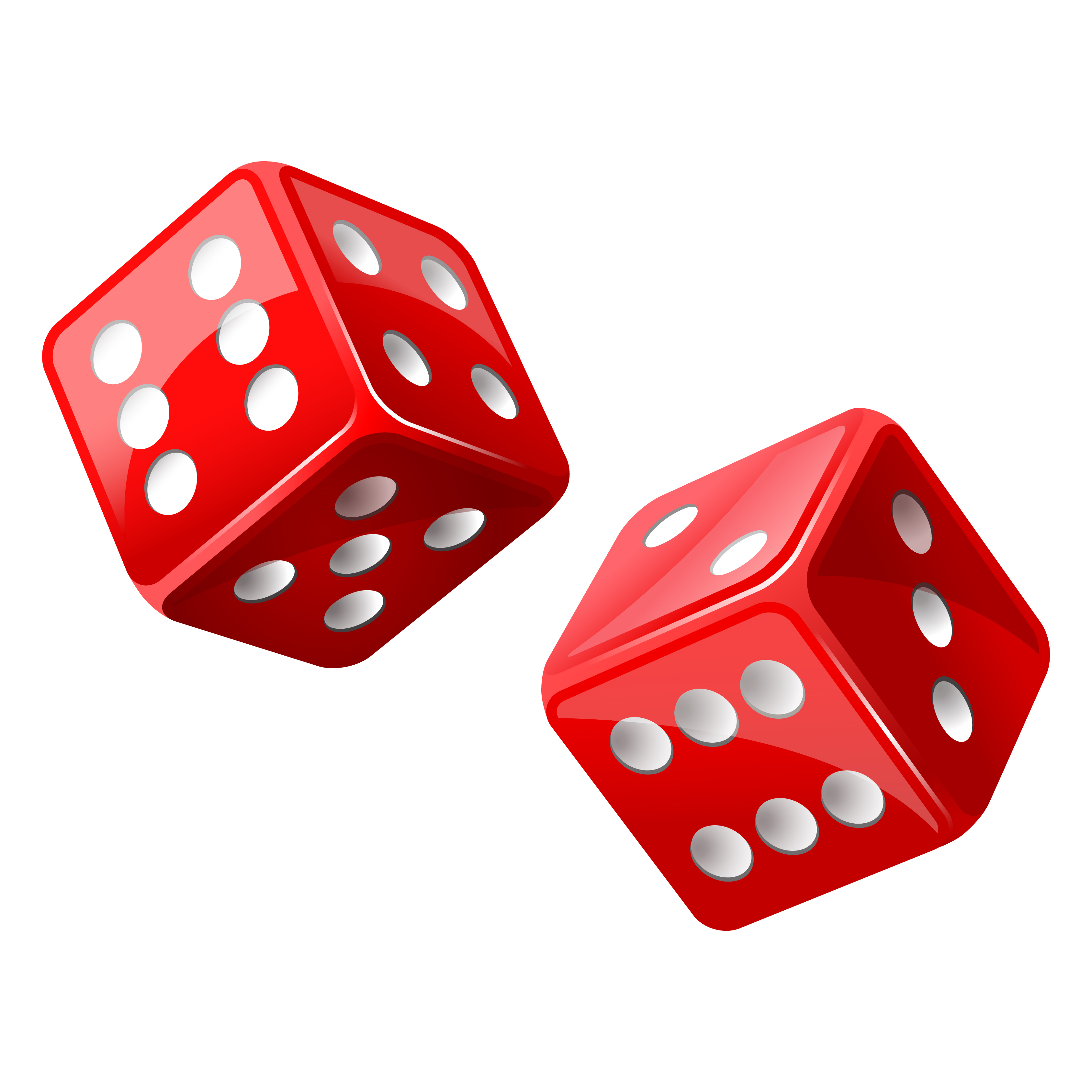 dice clipart red