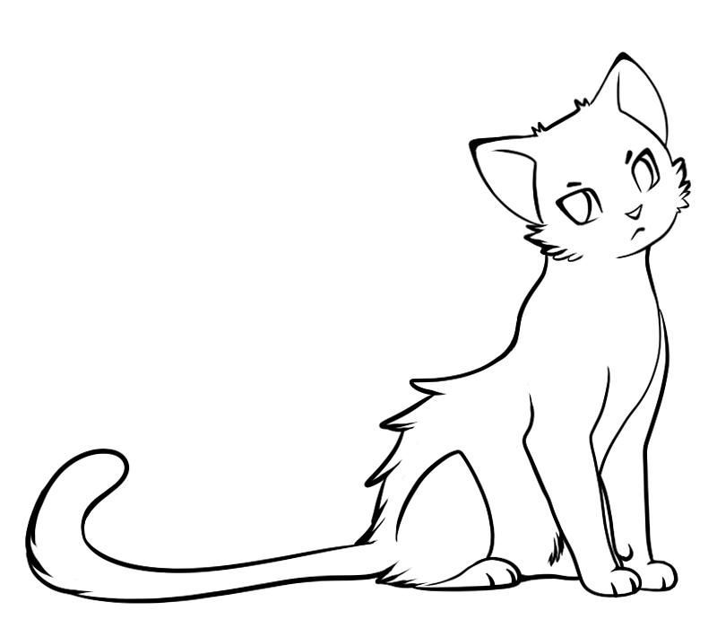 Cat clipart base.