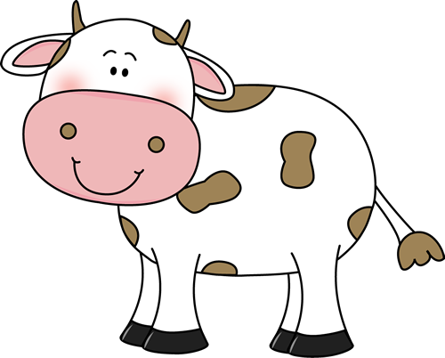 cow clipart brown
