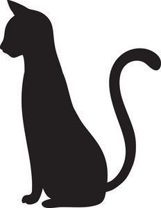 Cat clipart side view.