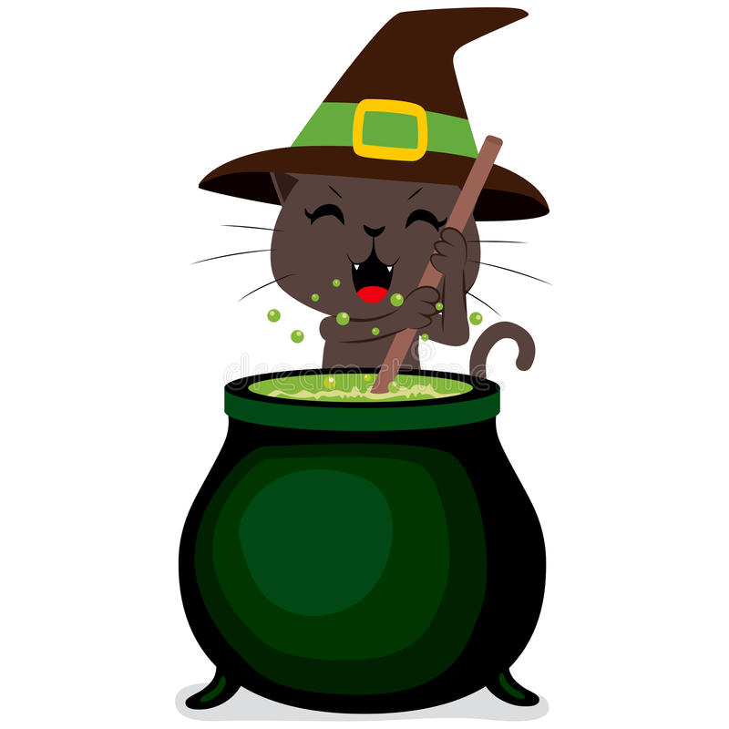 Cat clipart witch.