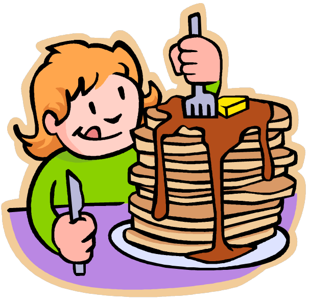 pancakes clipart eating