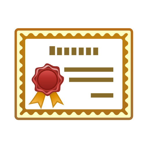 Change clipart certificate.