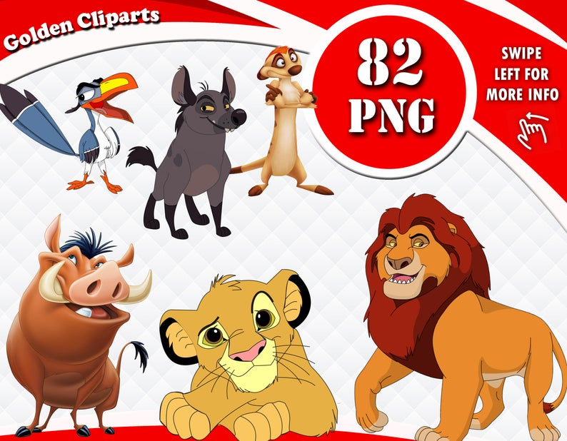 Characters clipart lion king.