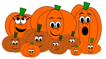 pumpkin patch clipart whimsical