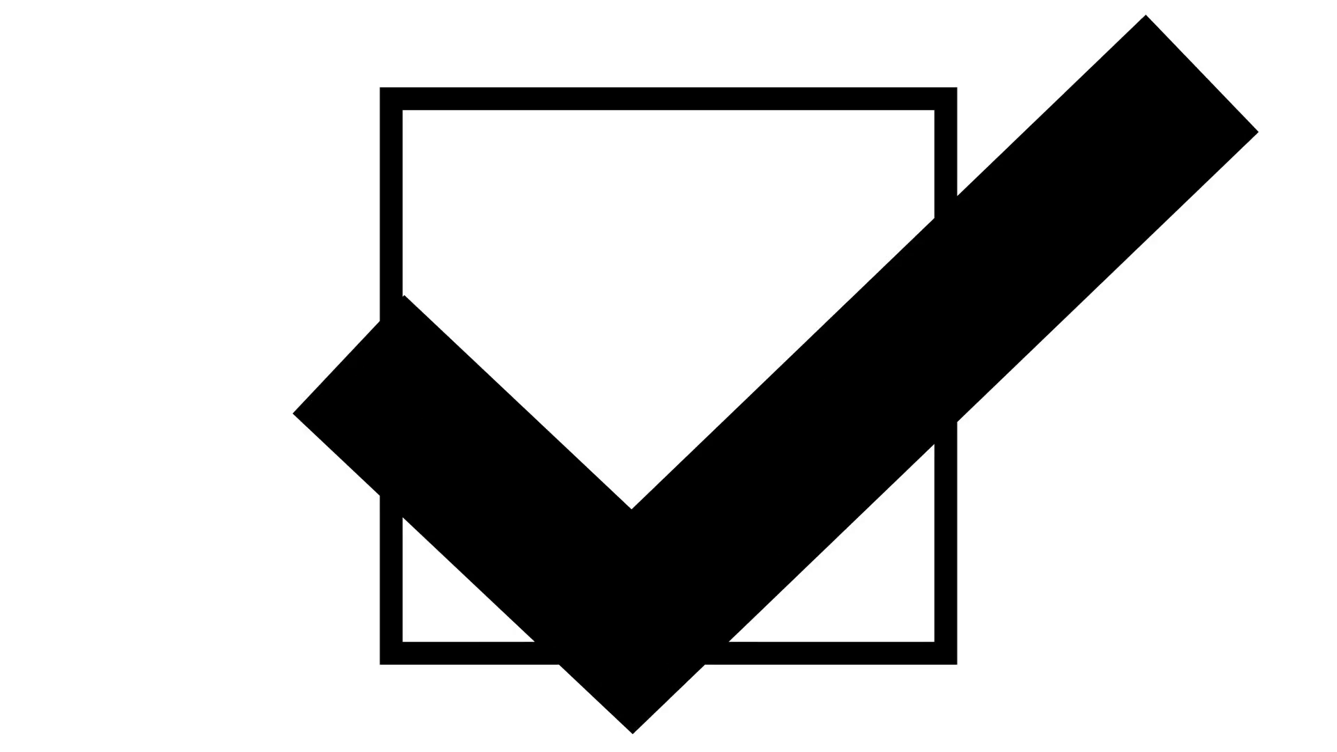 Checkmark clipart voting.