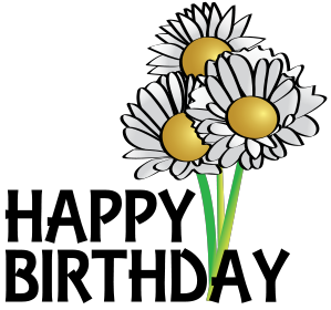 happy birthday clipart for her floral
