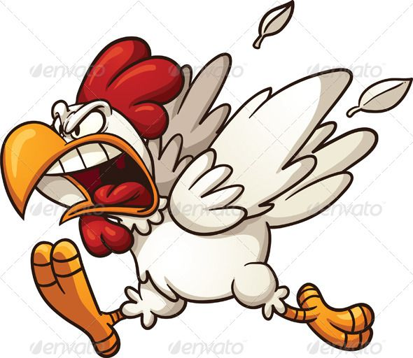 rooster clipart angry