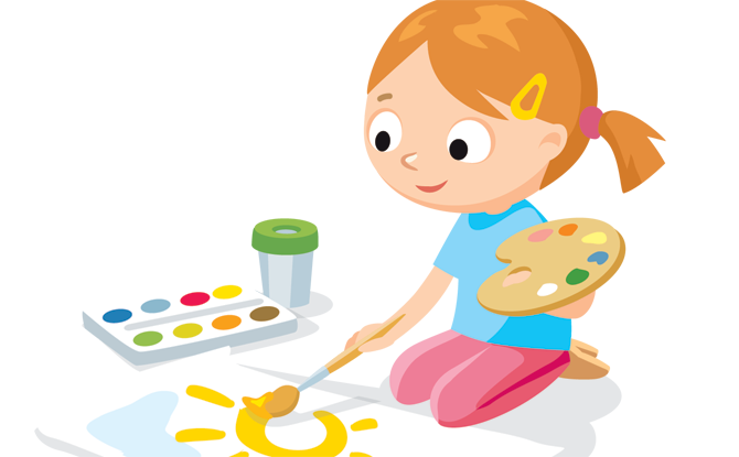 painting clipart kid