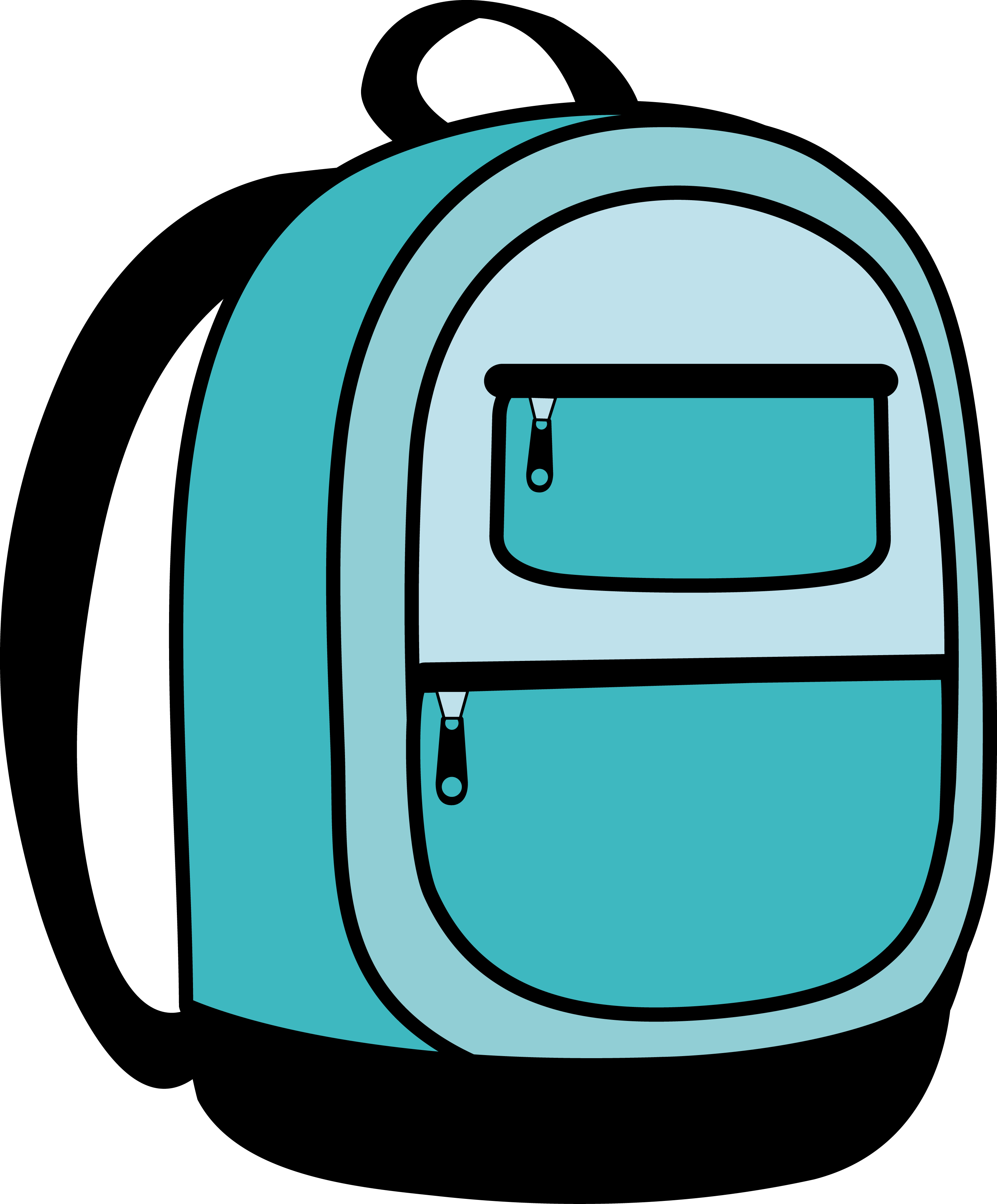 backpack clipart easy