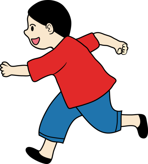 running clipart colorful