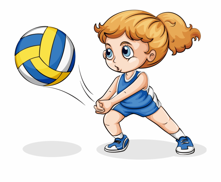 volleyball clipart playing