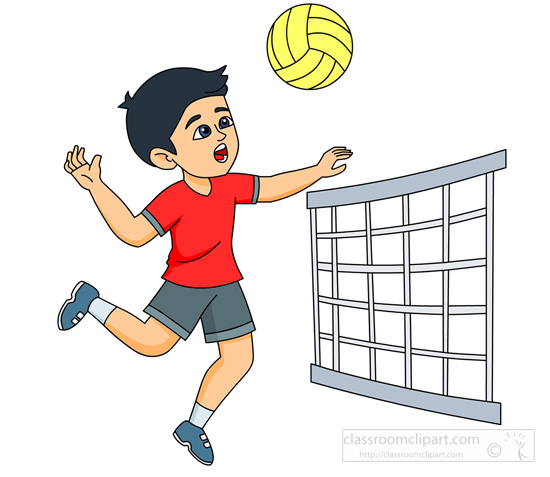 volleyball clipart player