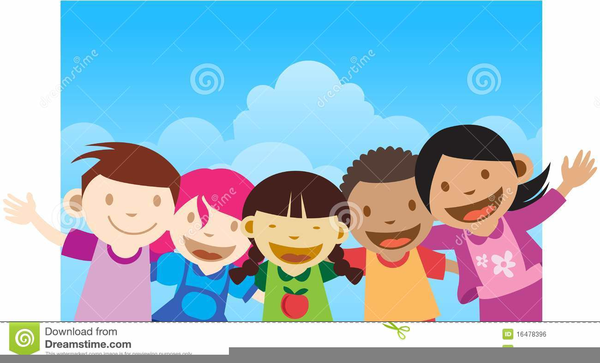 Children clipart wave goodbye.
