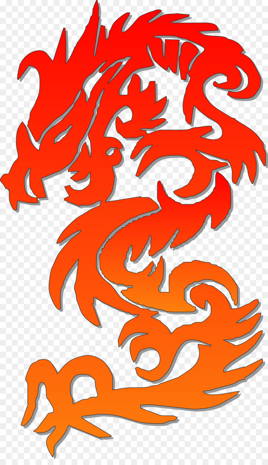 dragon clipart red