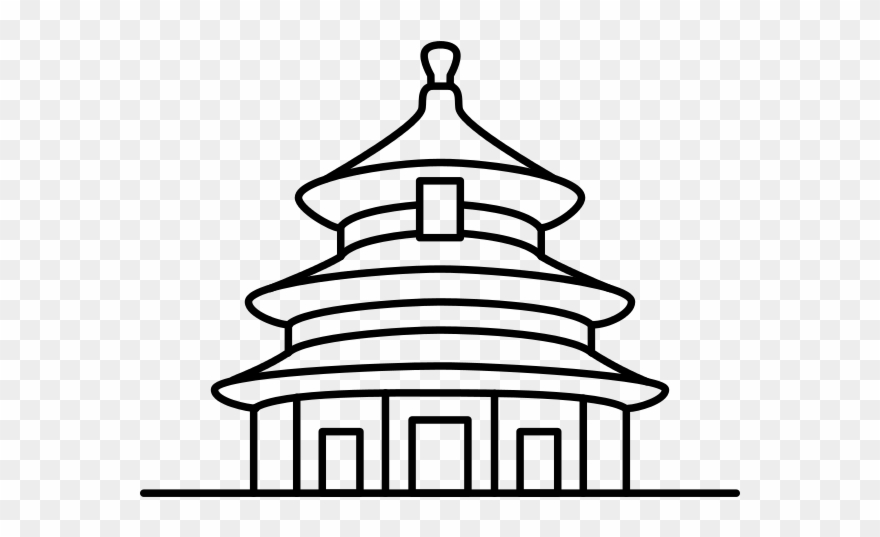temple clipart drawing