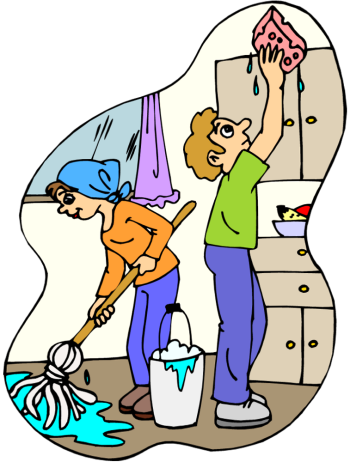 clean up clipart bedroom