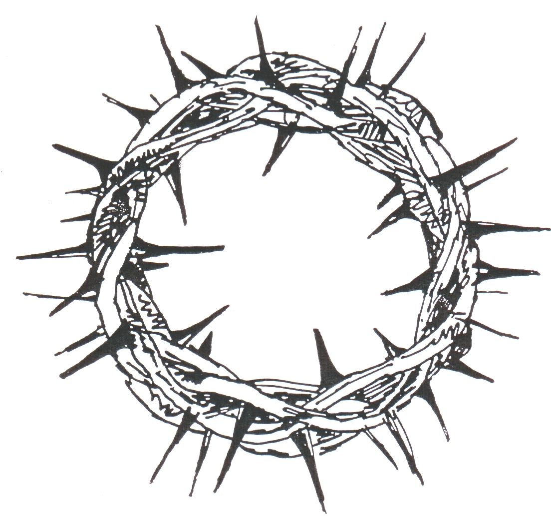 crown of thorns clipart silhouette