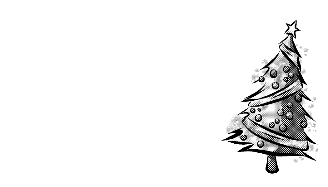 Christmas black and white clipart background.