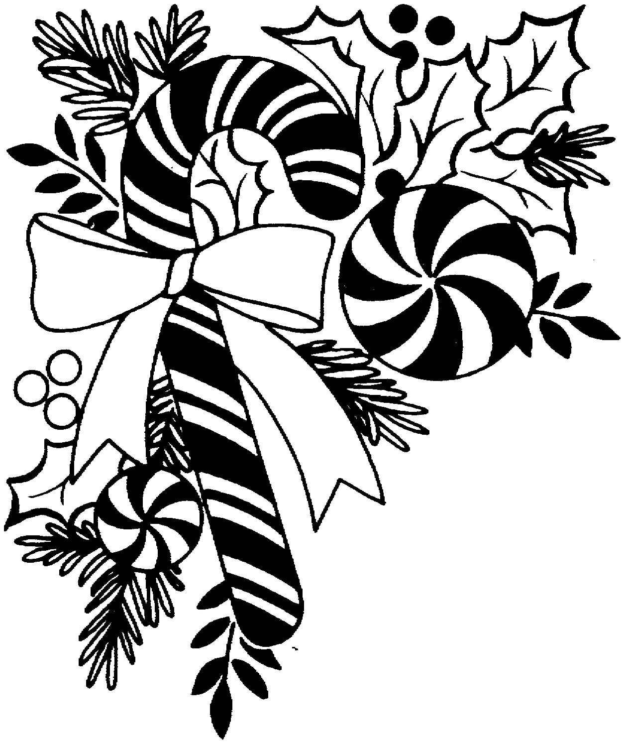 black and white christmas clipart simple