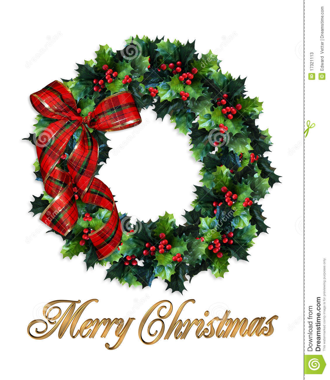 Christmas wreath clipart merry.