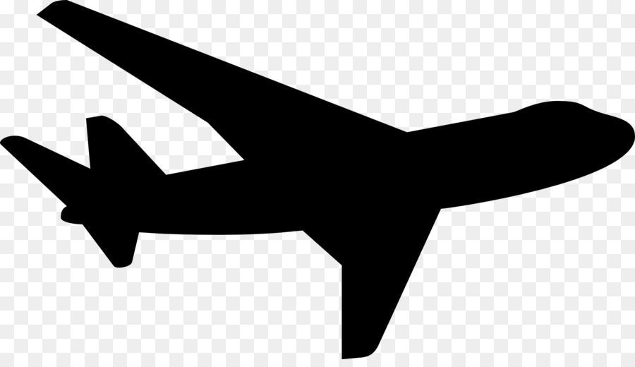 Clipart airplane silhouette.