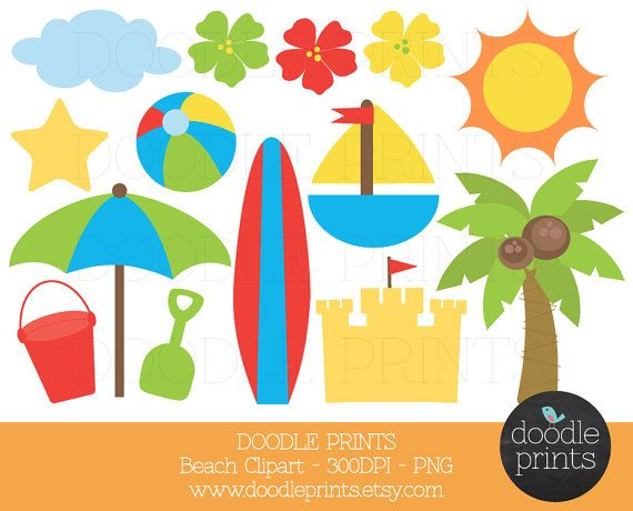Summer clipart beach.