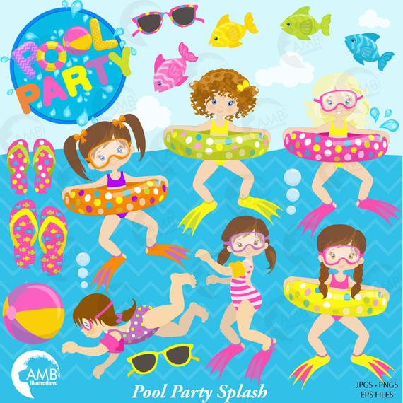 Clipart beach swimming.