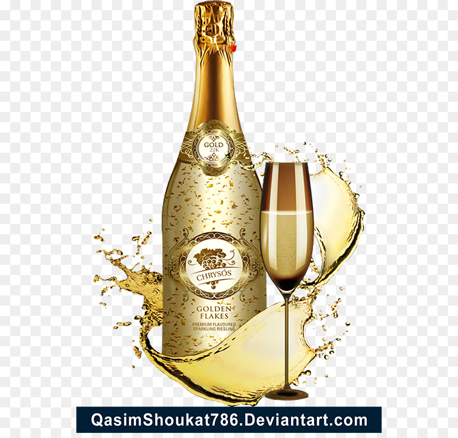 gold sparkles clipart champagne