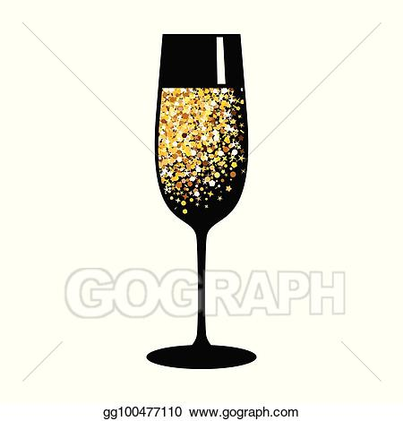 wine glass clipart gold