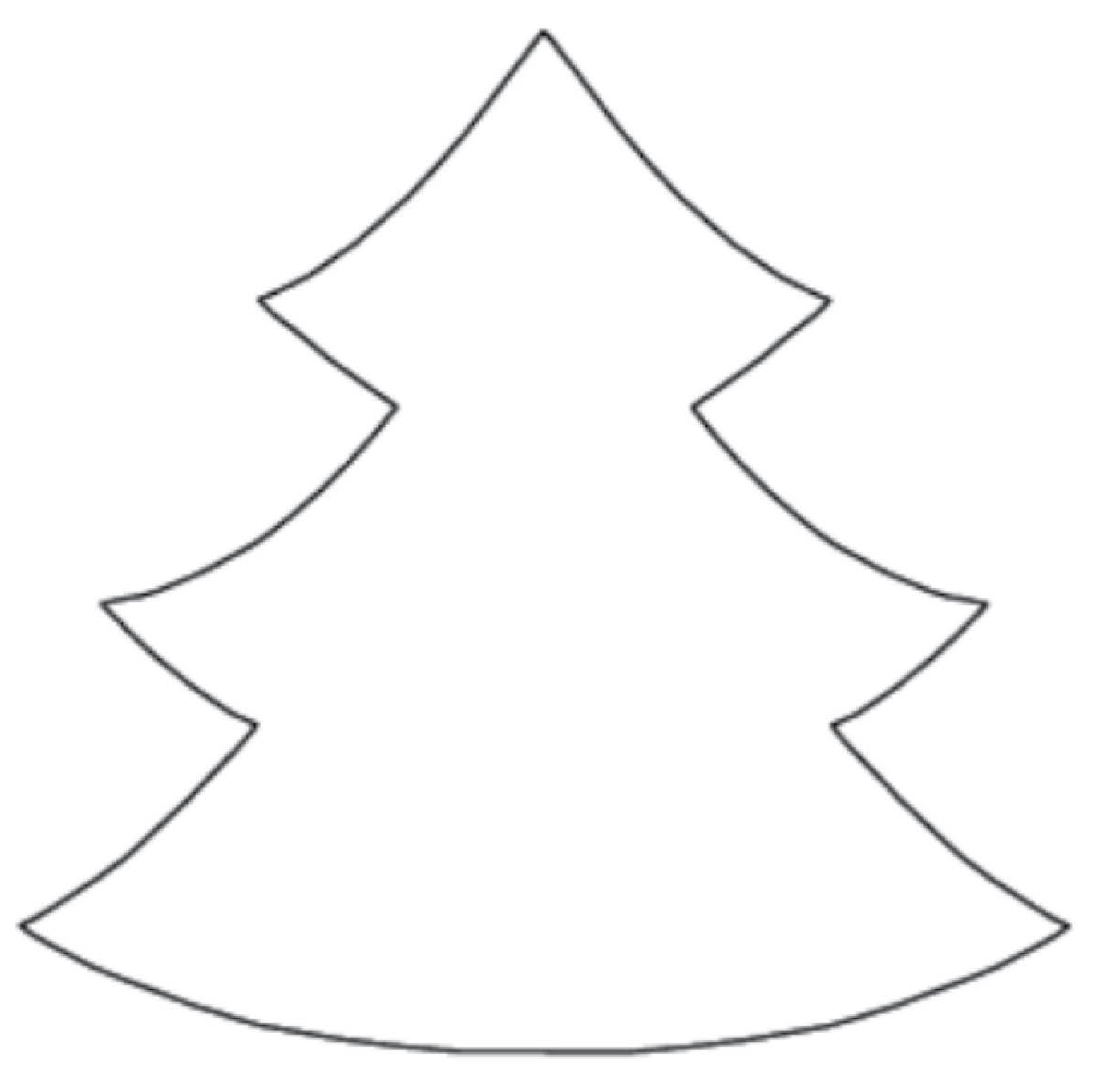 christmas tree clipart black and white outline