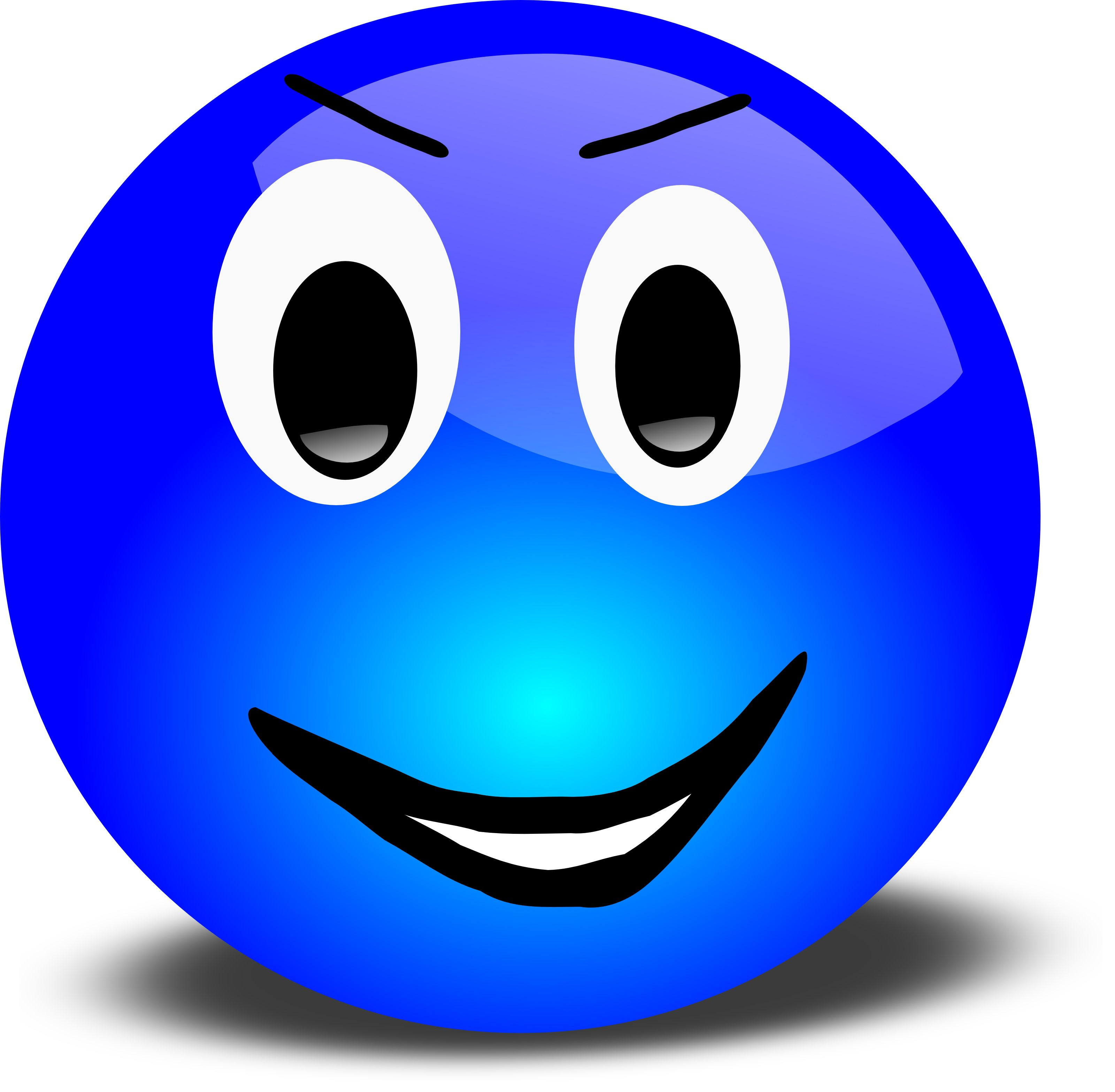 clipart smiley face blue