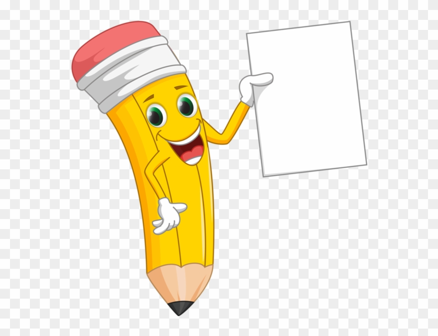 paper and pencil clipart cartoon
