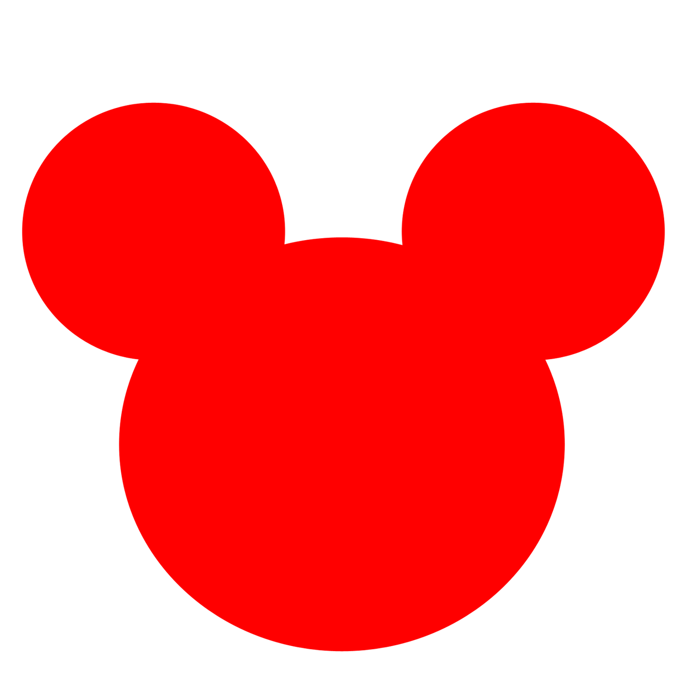 mickey mouse head clipart pink