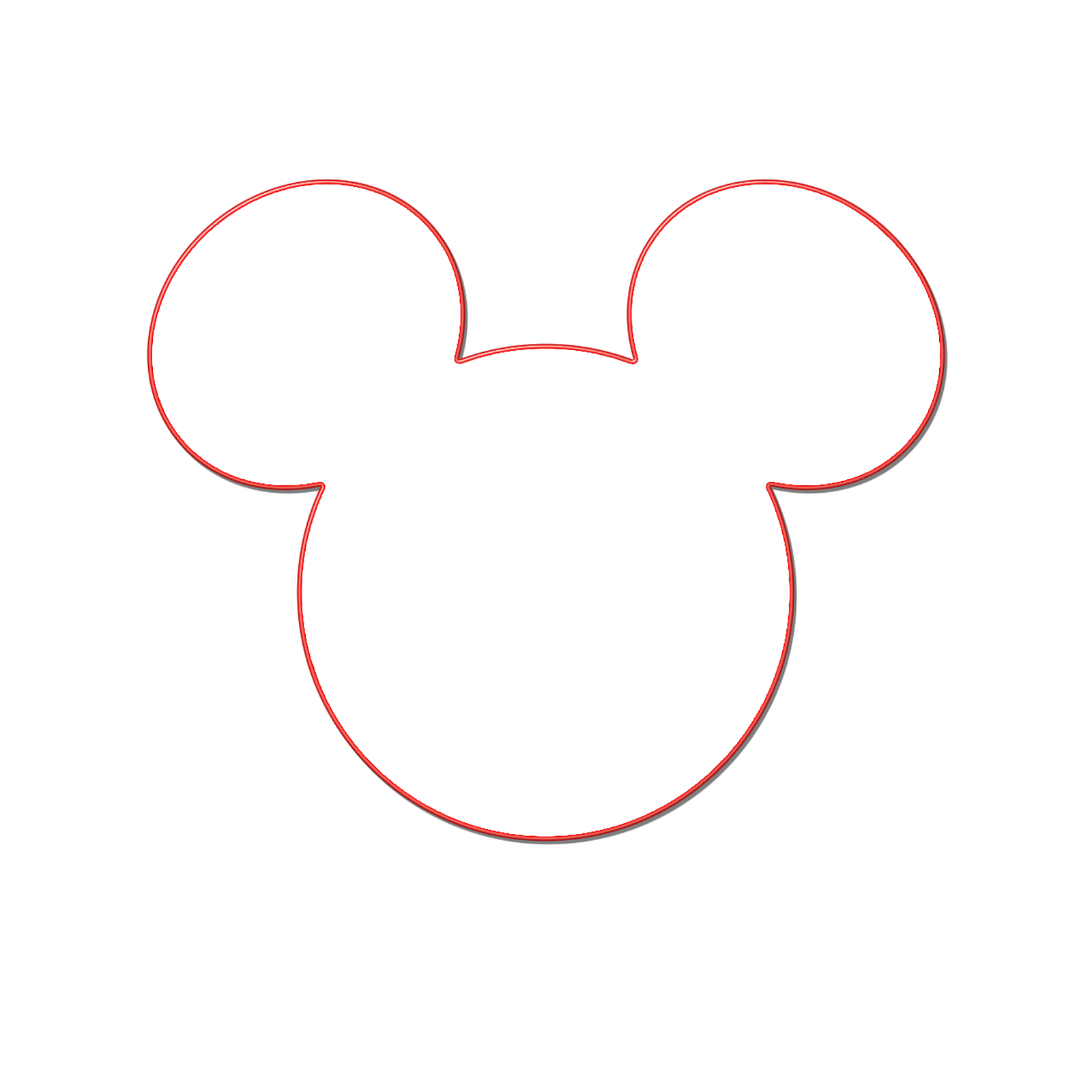 mickey mouse head clipart silhouette