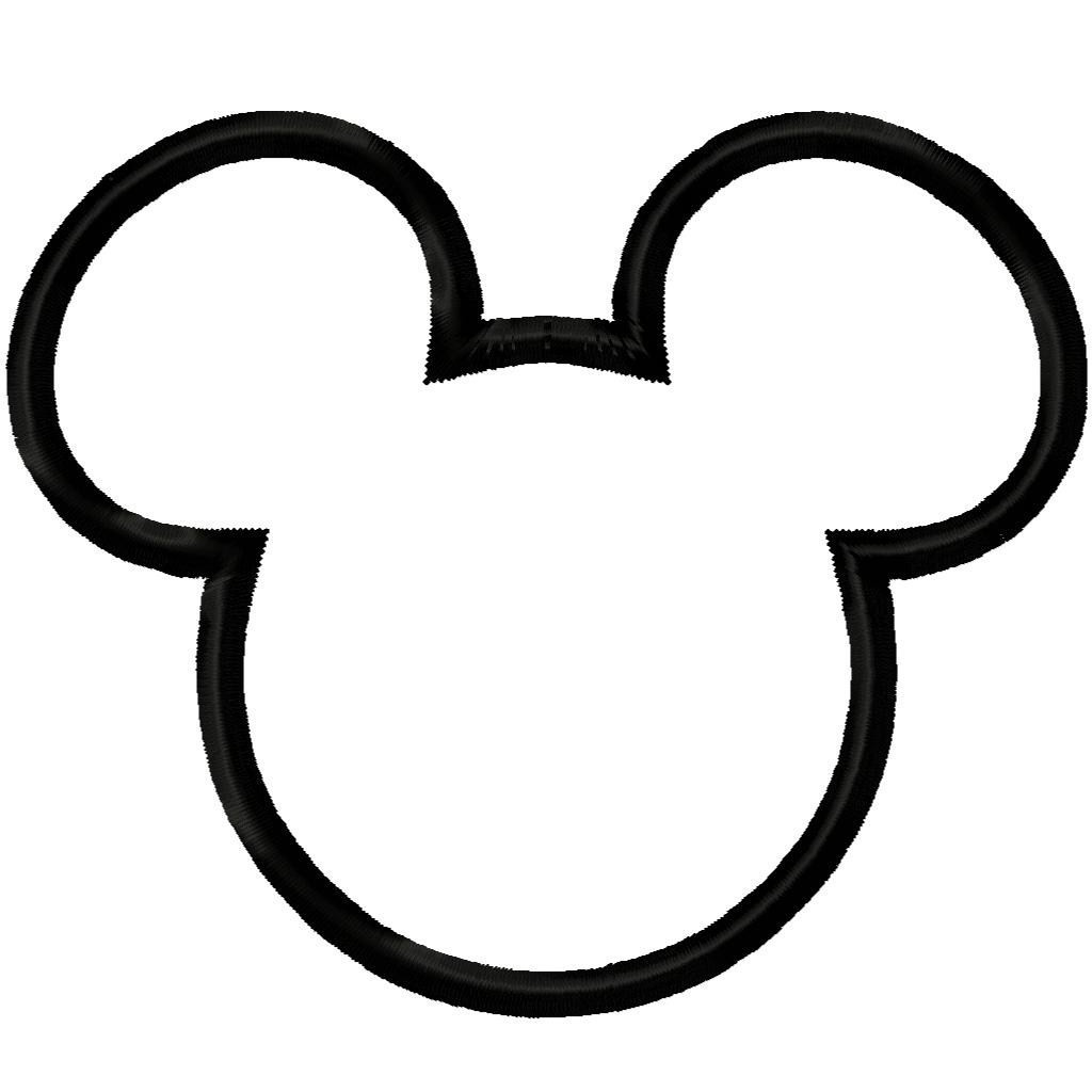 mickey mouse clipart outline