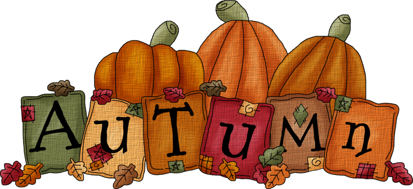 fall images clipart happy