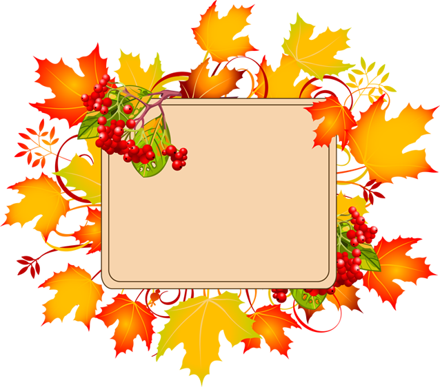 fall border clipart background
