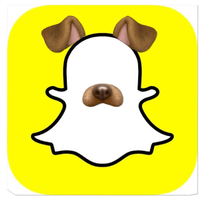 snapchat dog filter clipart animated