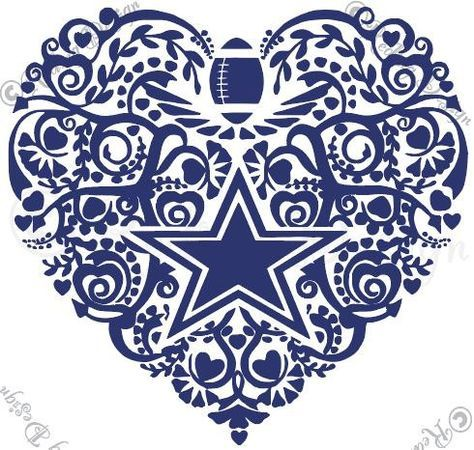 Clipart heart dallas cowboys.