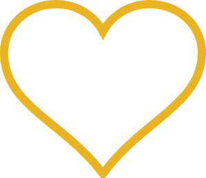 free heart clipart gold
