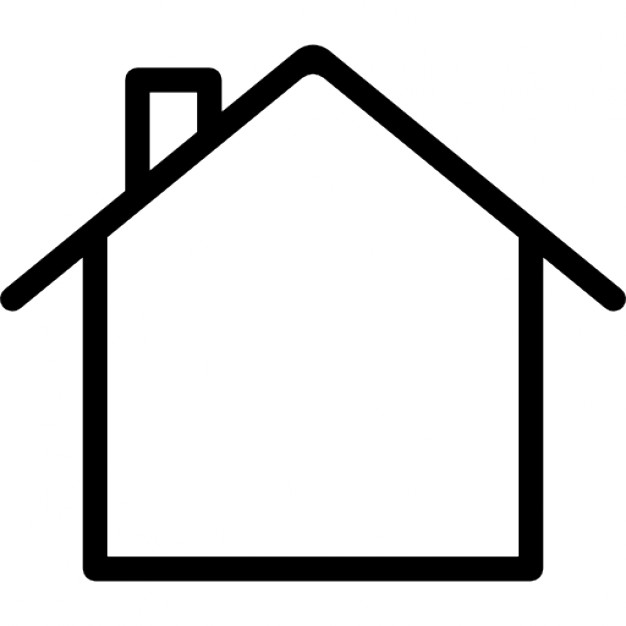 house outline clipart icon