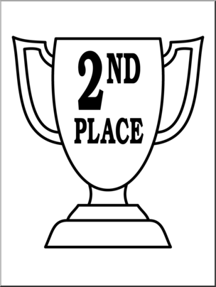 trophy clipart 2nd