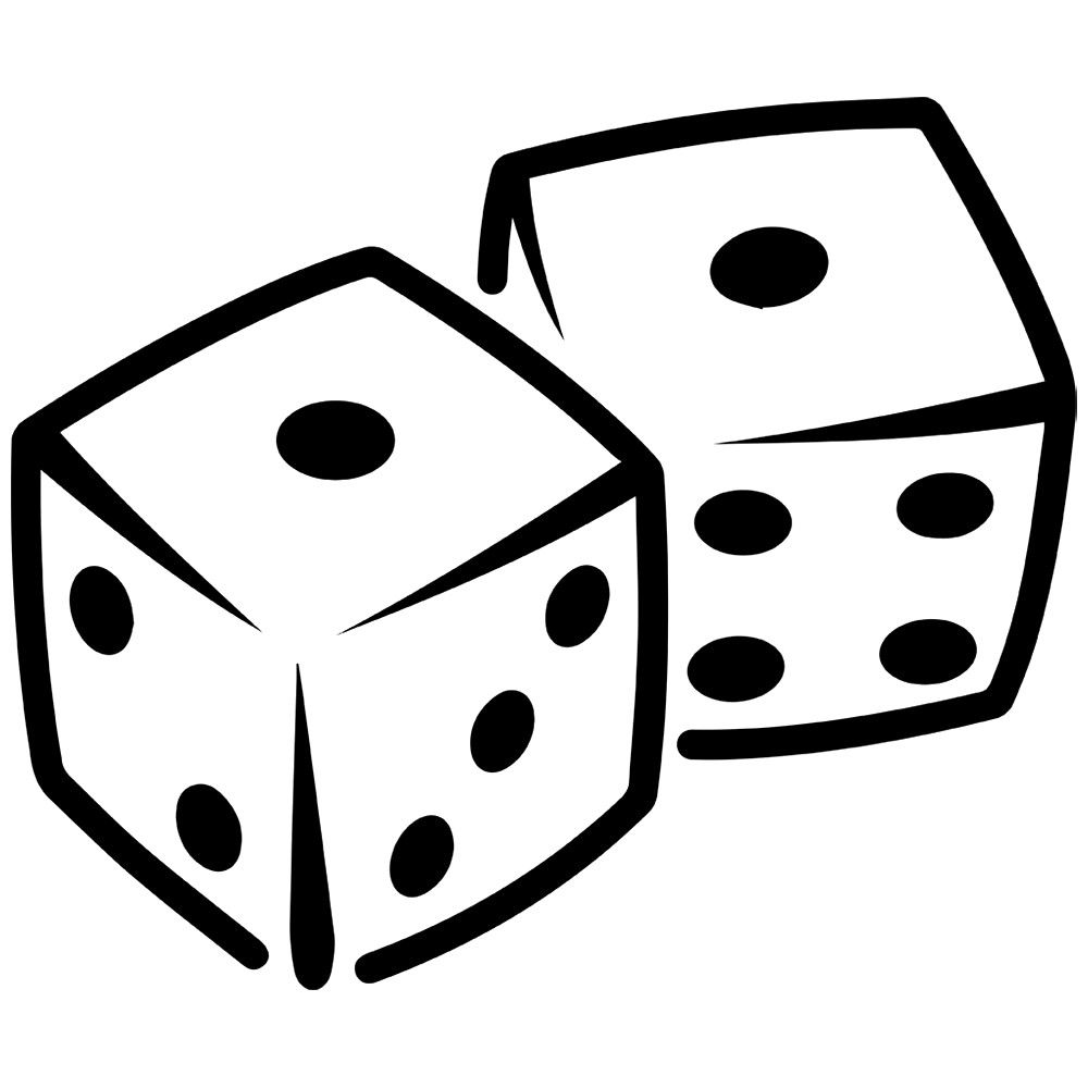 dice clipart printable